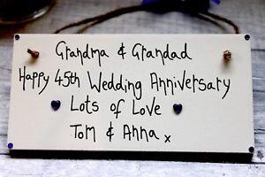 Image is loading Sapphire-Wedding-Anniversary-45th-Gift-Mum-Dad-Grandma-