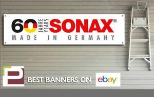 Sonax Polish & Detailing 60th Anniversary Banner, for Workshop, Garage, etc