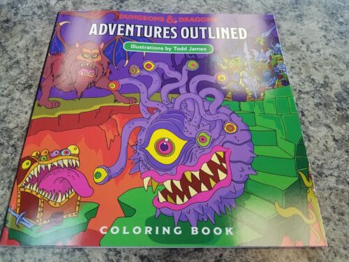 D /& D Adventures Outlined Dungeons /& Dragons Coloring Book New!