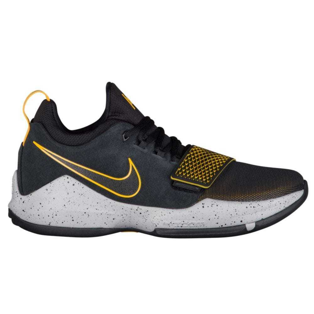Nike PG 1 Mens 878627-006 Black Grey University Gold Basketball Shoes Comfortable New shoes for men and women, limited time discount