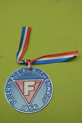 Frankreich Abzeichen - Pelerinage A Buchenwald -pilgerfahrt Nach Buchenwald 1956 100% Garantie