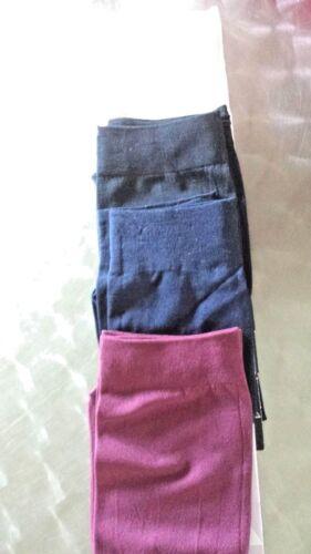 CREAM BLK OR NAVY PICK  COLOR GIFT BAGGED WOMENS NYLON TROUSER SOCKS~1 PR PLUM