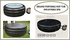 """Gonflable Deluxe Bassin Chaud Portable Noir 25"""" Modèle Profonde 4 Personnes Spa"""