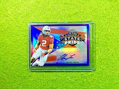 2020 Panini NFL Stickers Football #352 Chase Young RC Rookie Sticker Washington Football Club Official 1.5 X 2.5 Inch Album Sticker