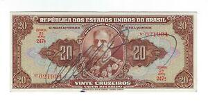 20 Cruzeiros Brésil 1950 c083/p.144 - Brazil billet