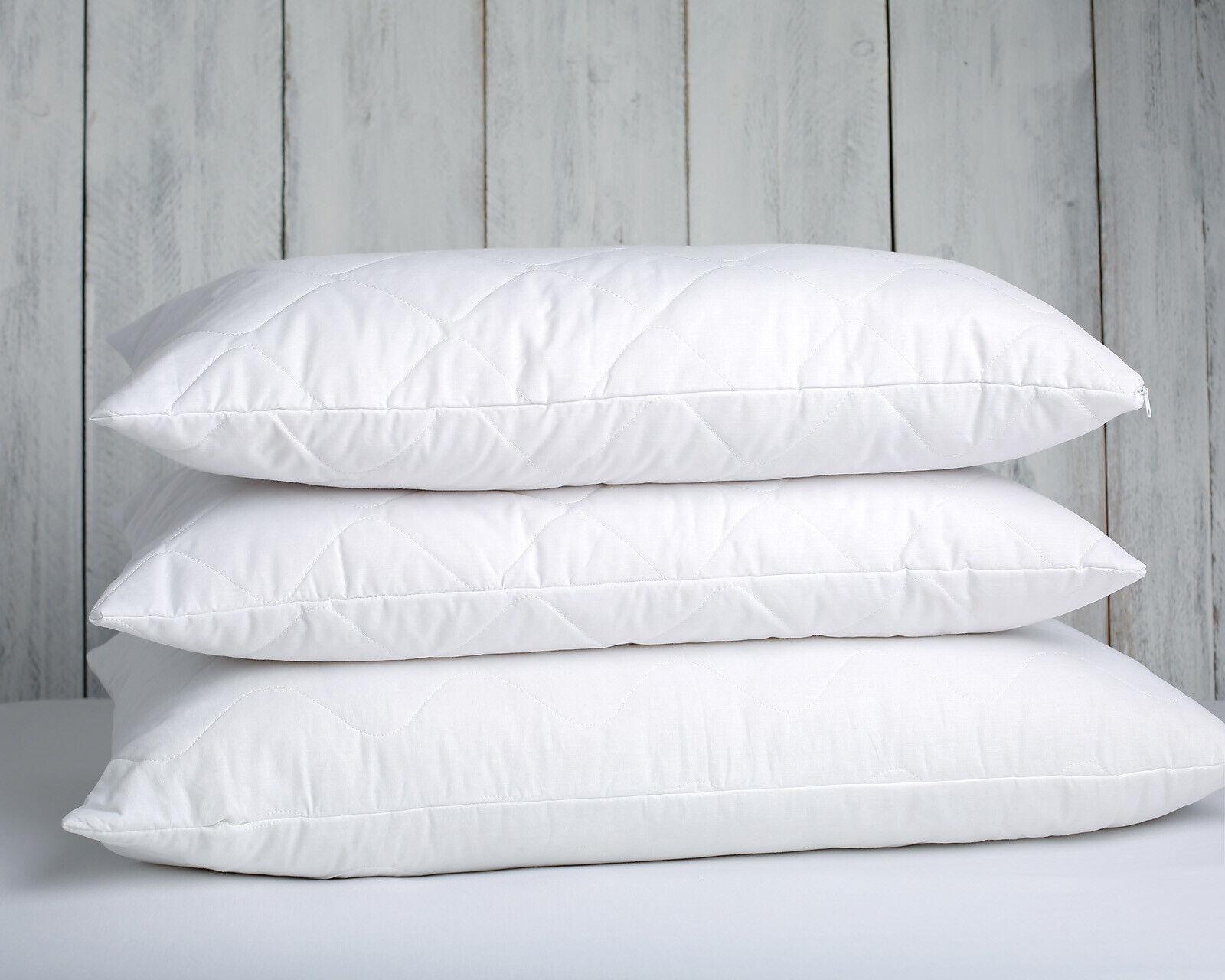 Standard Four Merino Wool Pillows zipped cotton StKunstseite filing wool