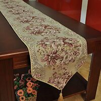 Milesky Classic European Style Embroidery Dining Table Runners Tassel Sequined L on sale