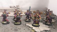 Warhammer 40K Chaos (9) Space Marines Thousand Sons Pro Painted Group#1