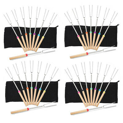 Marshmallow Roasting Smores Sticks Camping Accessories For Camp Set Of 8 32 Inch