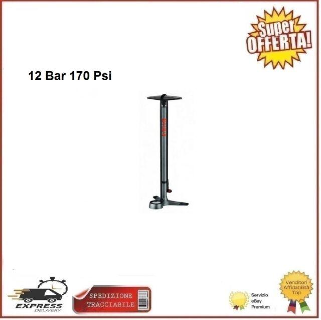 Pompa Officina Con Manometro 12 Bar 170 PSI  De Lux Gonfiaggio Ruote Bicicletta