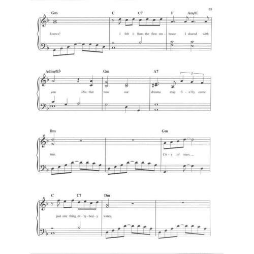 Noten für Klavier mit Herzklammer Easy Piano La La Land