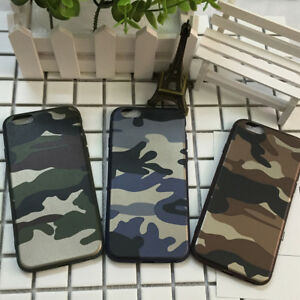 Mobile-Phone-Back-Army-Camo-Soft-TPU-Case-Cover-For-Apple-iPhone-8-Plus-X-6S-7