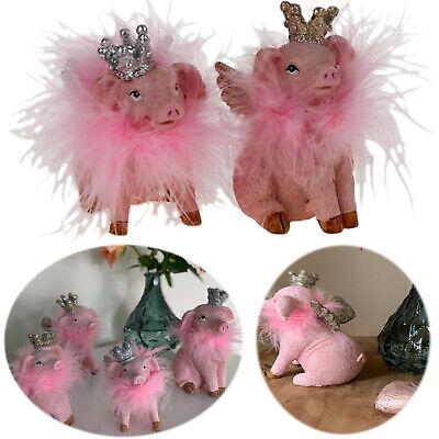"""Schweinchen /""""Pink Queen/"""" Dekoration Deko Figur Schwein"""