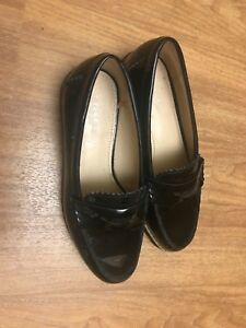 coach womens black leather loafer size 5 | eBay
