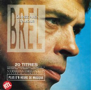 Jacques-Brel-CD-Quinze-Ans-D-039-Amour-France-EX-VG