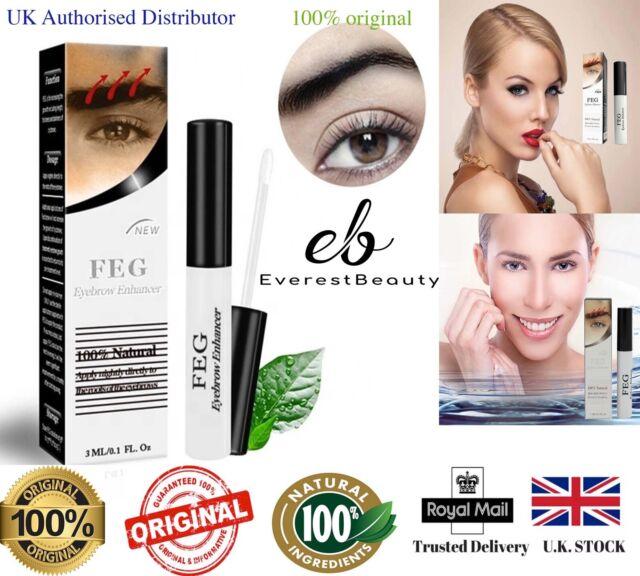 💙FEG Organic 3ml Eyebrow Enhancer Growth Serum 100% Natural Liquid Oil💙
