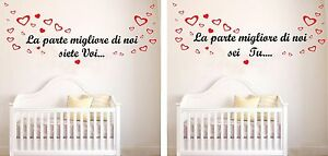 Wall stickers adesivi murali frase bimbo figlio cameretta bambini parete decoro ebay - Adesivi cameretta bimbo ...