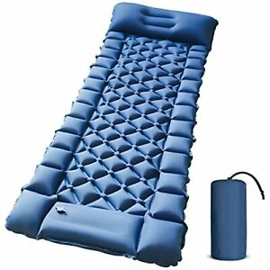 Camping Sleeping Pad - Foot Press Inflatable Lightweight Camping Pad with Air Pi
