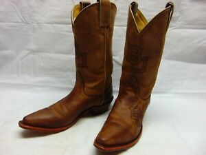 79f29fc031537 Details about Nocona Boots Women's 7.5 B BU Brown Leather Snip Toe Western  Cowgirl Riding Boot