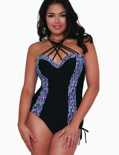 Curvy Kate Galaxy Underwired Padded Swimsuit CS3757 Black New Swimming Costume