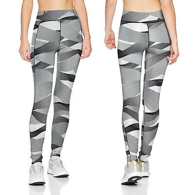 Adidas Womens Ultimate Print Aop Leggings Ladies Full Length Sports Gym Tight Bequem Und Einfach Zu Tragen