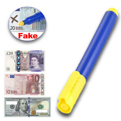 8 x Money Tester Pens Counterfeit Bank Note Detector Forged Fake Test Checker