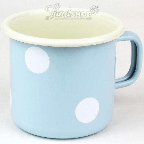Münder Emaille Email Kaffeebecher Tee Glühwein Tasse Camping Outdoor gross Neu