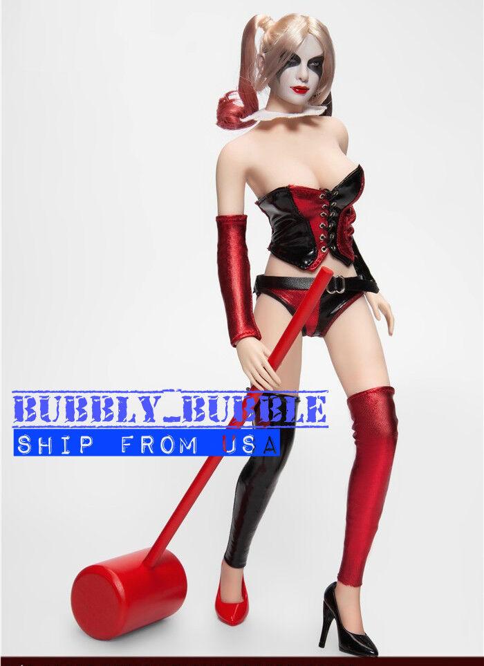 1/6 Suicide Squad Harley Quinn Head Joker Suit Set For PHICEN Hot Toys Figure