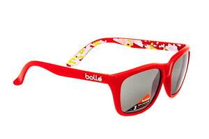 Bolle-527-Sunglasses-Shiny-Red-Camo-Frame-TNS-Gun-Lens-12048-Authorized-Dealer