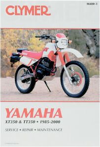 image is loading clymer-repair-manual-for-yamaha-xt350-1985-2000-