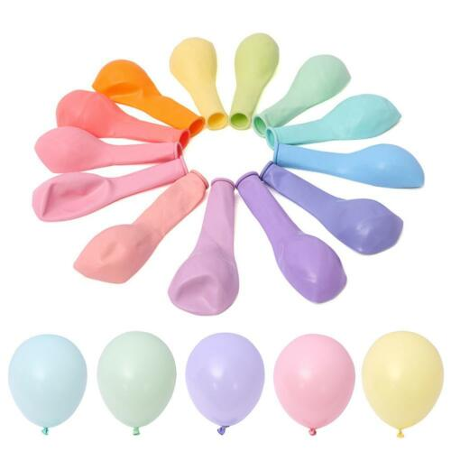 100Pcs Macaron Candy Colored Latex Balloon For Birthday Party Decoration Baby