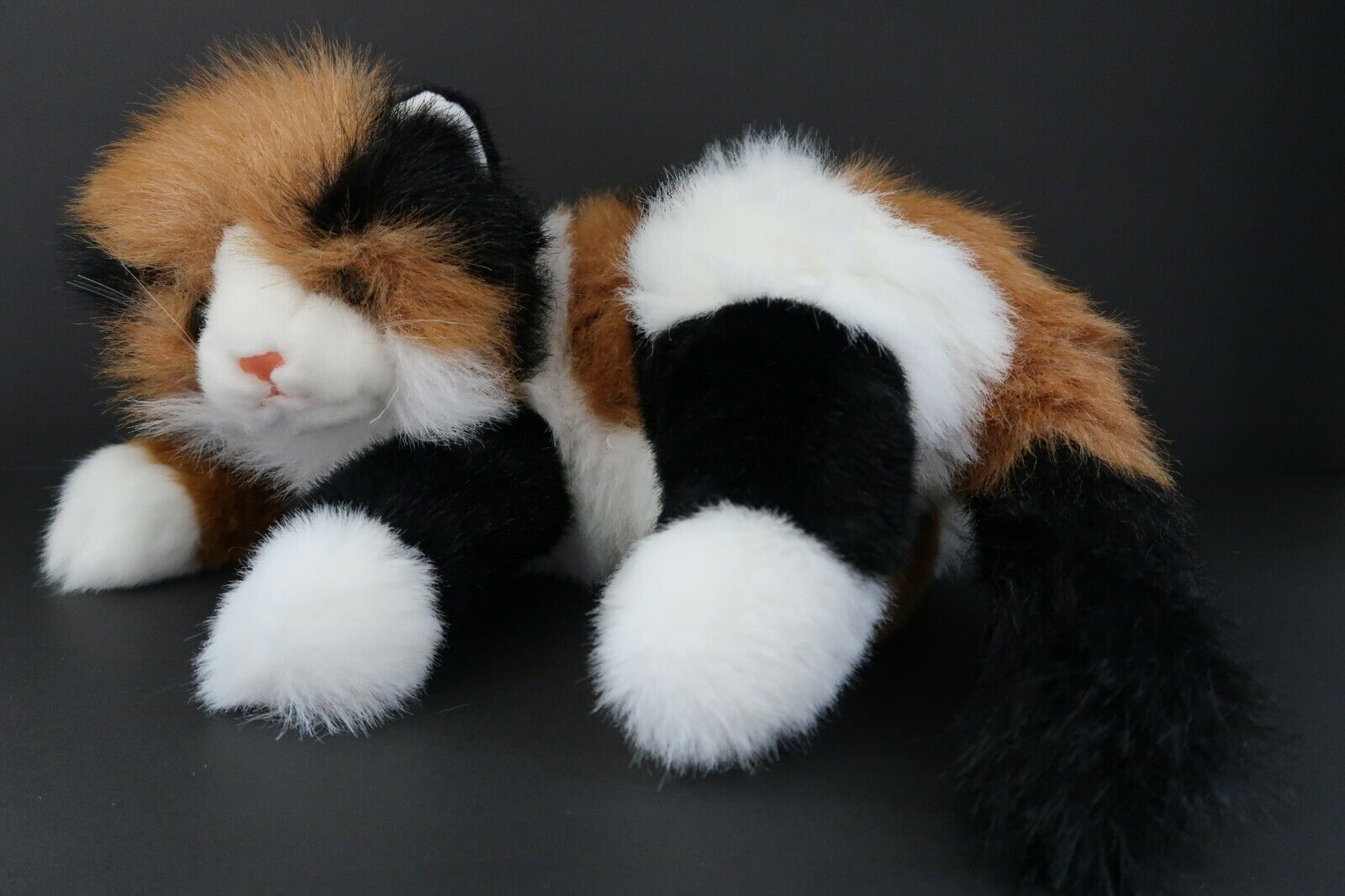 TY Classic Plush Maggie Maggie Maggie The Calico Laying Cat 18  Plush Stuffed Toy 1995 Korea c65edc