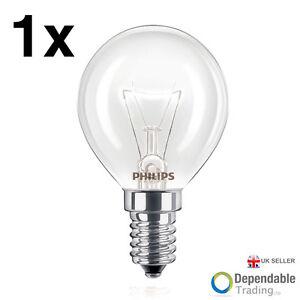 1 X 40w Philips Marque Four Lampe Ses E14 Petit Bouchon Vis 300° Cuisinière