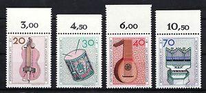 Alemania-Berlin-1973-Mi-459-462-MNH-OR-BORDE-SUPERIOR-Bienestar