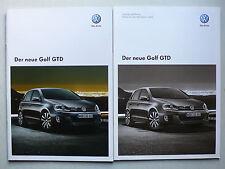Prospekt Volkswagen VW Golf VI GTD zur Premiere, 6.2009, 16 Seiten + Preisliste