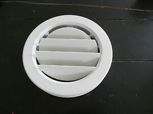 6 7 8 Quot White Round Ceiling A C Vent 7 8 Quot Collar Cover