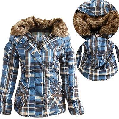 Women Men Winter Parka Fur Collar Hooded Thicken Cotton Coats Jacket Outwear