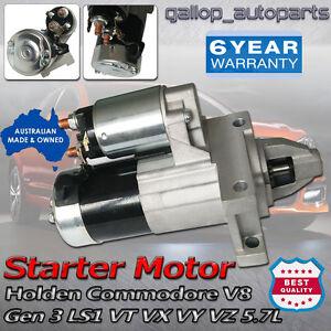 For-Holden-Starter-Motor-GEN-3-LS1-V8-Commodore-VT-VX-VY-VZ-Monaro-5-7L-700118