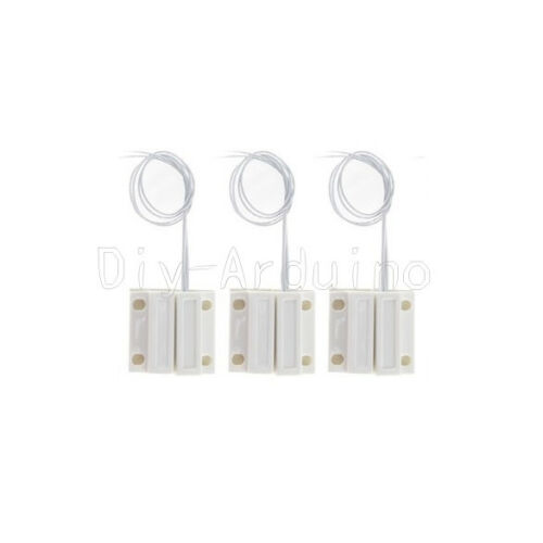 1//5Sets MC-38 Wired Door Window Sensor Magnetic Switch Home Alarm System