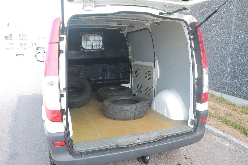 Mercedes Vito 109 2,2 CDi kort Diesel modelår 2007 Hvid km