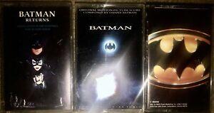 LOT OF 3 BATMAN ORIGINAL MOTION PICTURE SOUNDTRACK CASSETTE TAPES RETURNS MOVIE