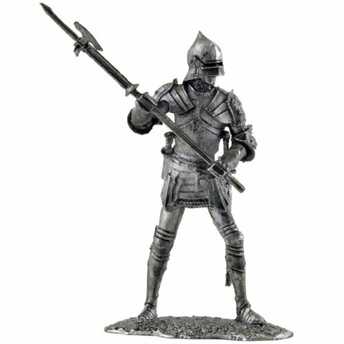 English warrior in plate armor Tin toy soldier miniature figurine