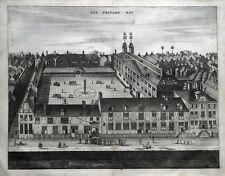 AMSTERDAM, PRINSENHOF, HET PRINCEN HOF, C. Commelin original antique print 1693