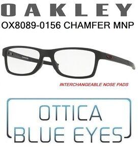 3090a0f9cb Occhiali da Vista OAKLEY CHAMFER MNP 8089 01 56 Glasses Eyewear ...