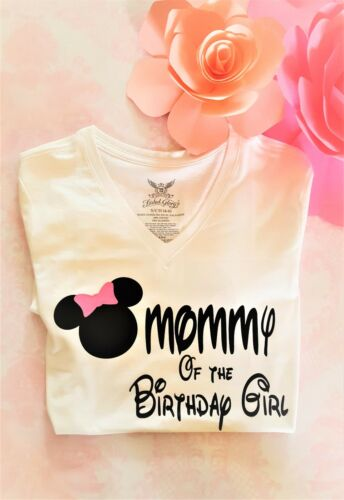 Minnie Mouse inspired mommy of the birthday girl shirt women shirts birthday