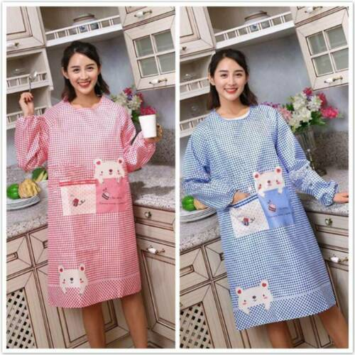 Adult Barbecue Aprons Long Sleeve Oil-proof Waterproof Kitchen Cooking Aprons SH