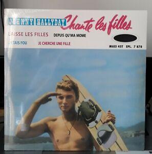 Picture-Disque-034-Planche-de-Surf-034-Maxi-45T-Johnny-Hallyday-Neuf-et-Scelle