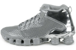 half off 59b87 d3ad0 Details about 2014 NIKE SHOX TLX MID SP SILVER/CHROME UK 8 US 9 nz  677737-003 prm vc chukka r4