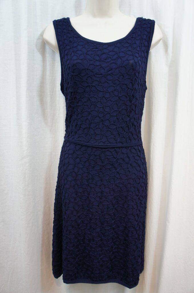 Studio M Dress Sz M Purple blueee Sleeveless Soutache Detailed Casual Party Dress