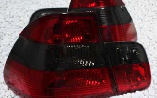 Feux arrières set BMW e46 3er berline 98-01 rouge NOIR BLACK CRISTAL smoke qt